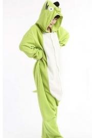Groen varkentje onesie, onepiece, jumpsuit, pyjama.