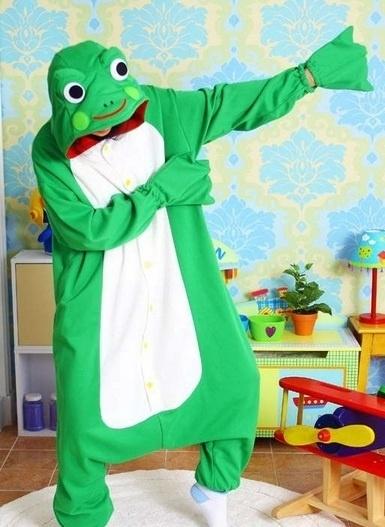 Kikker onesie, onepiece, jumpsuit, pyjama.