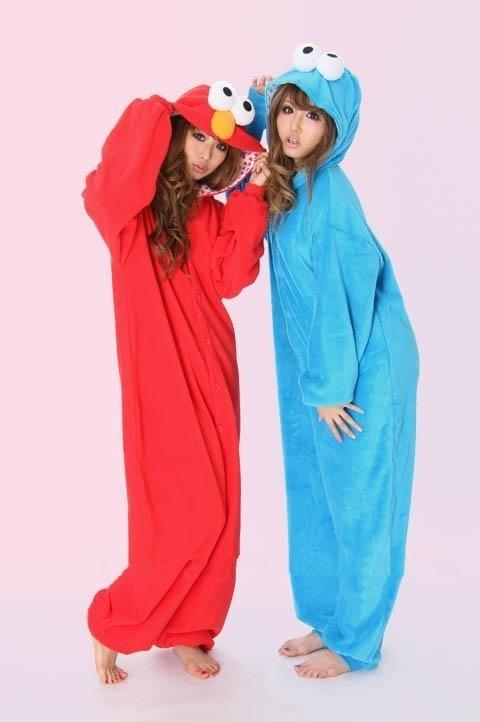 Elmo Elmo kigurumi, pyjama, onepiece, jumpsuit.