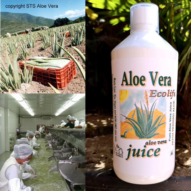 3 + 1 gratis fles Premium Aloe vera Juice - biologisch