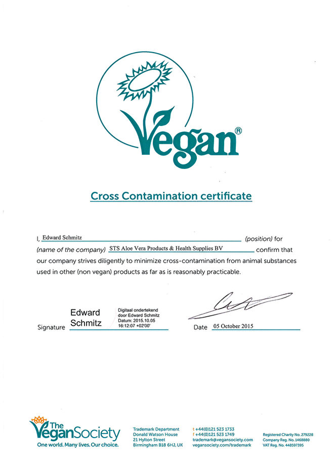 vegan sts aloe producten