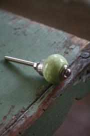 kleine fris groene knop met craquele