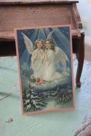 "ansichtkaartje ""engeltjes samen"""