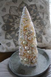 prachtig boompje met goudkleurige pastelballetjes