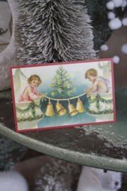 """schattig kaartje """" engeltjes versieren"""""""