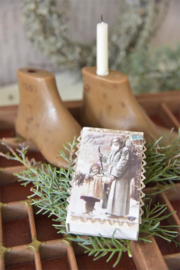 mooi luciferdoosje met nostalgisch kerstprentje