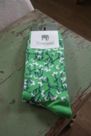 """heerlijke sokken """"Springtime green"""" maat 35-38"""