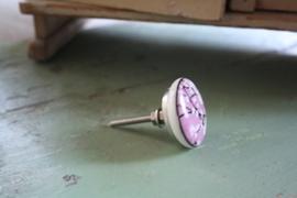 """mooie porseleinen kastknop """"bloesem in roze"""""""