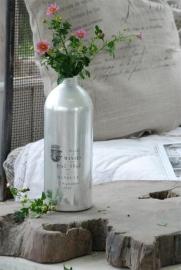 stoere aluminium fles met dop