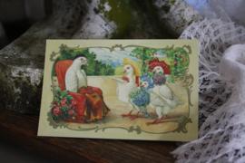 "schattig kaartje "" Duiven visite"""