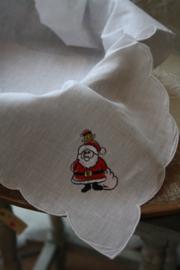 """stoffen broodmand inleg met borduursel """"kerstman"""""""
