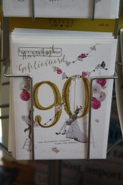 """Hartelijk gefeliciteerd 90 """"een bijzondere mijlpaal, fijne dag gewenst"""""""