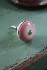 "porseleinen knop ""retro roze"""