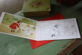 """kleurenkaartje met envelop """" samen bloemen plukken"""""""