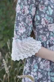 Dress  blossem Vintage  Dark grey XS