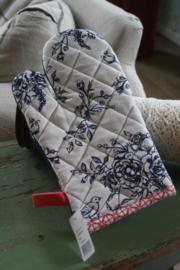 mooie ovenhandschoen met Hollandse bloemen