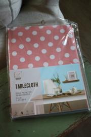 """kunststof tafelkleed """"roze met stippen"""""""