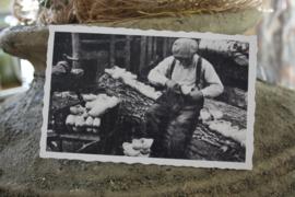 """oud Hollandse kaart """"klompen maken"""""""