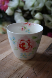 "Greengate latte cup ""Meryl white"""