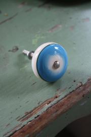 """porseleinen knop """"retro blauw"""""""