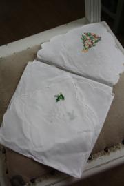 """stoffen broodmand met borduursel """"kerstboom"""""""