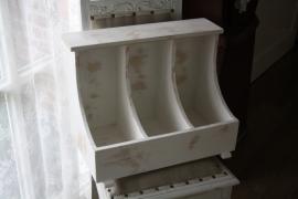 stoere  houten mangelbak