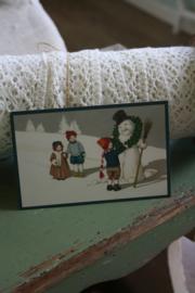 """schattig kaartje """" sneeuwpop maken"""""""