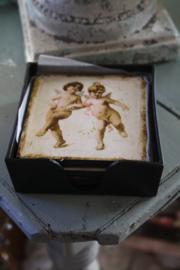 """doosje met 6 kunststof onderzetters """"Angels"""""""