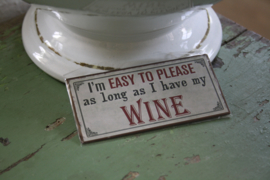 "leuke magneet ""Easy to please"""