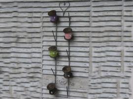 mooie zinken klos/kettingen hanger