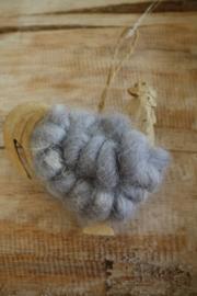 """houten hanger met wol """"kippetje"""""""