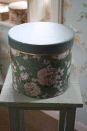 ronde doos met bloemen L