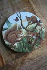 """kunststof pannenonderzetter """"eekhoorntjes"""""""