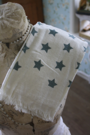 mooi handdoekje met groene sterren