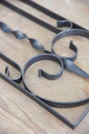 prachtige donkere metalen frieze