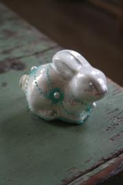 "parelmoer kleurig konijntje ""groen"""
