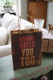 "stoer papieren kadotasje ""Monday"""