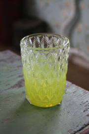 waxinehouder met appelgroene bewerking