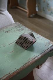 oude houten stempel S