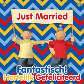 """Buurman en Buurman kaart """"Just Married"""""""
