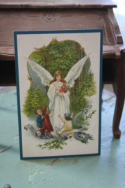 "ansichtkaartje "" Engel met de poppen"""