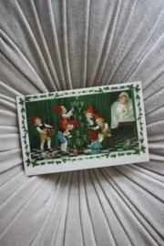 """mooi kaartje """"kaboutertjes versieren de kerstboom"""""""