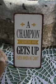 "leuke magneet ""A champion is.."""