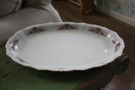 oude platte vleesschaal