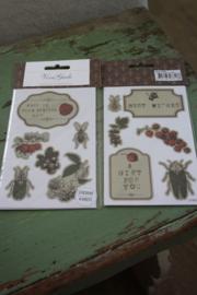 """set van 4 sticker vellen """"Natuur"""""""