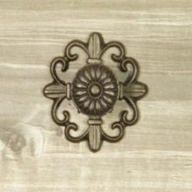 donker ijzeren knop met lely