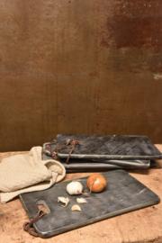Marmeren snijplank met leren koord