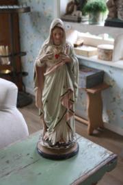 mooi oud pastel kleurige Maria beeld  ALLEEN AF TE HALEN