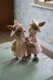 "schattig beeldje ""Poppie en Moppie"""