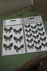 """set van 4 sticker vellen """"Vlinders"""""""